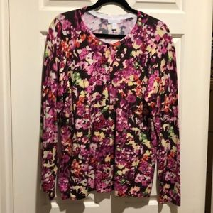 NWOT Pinks & Purple colored Cardigan Sweater 1X